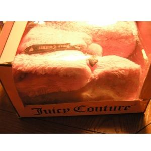 Juicy couture Slippers Pink size 8 Plush faux fur